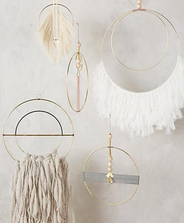 Acessórios de décor com franjas (Foto: Pinterest/ Reprodução)
