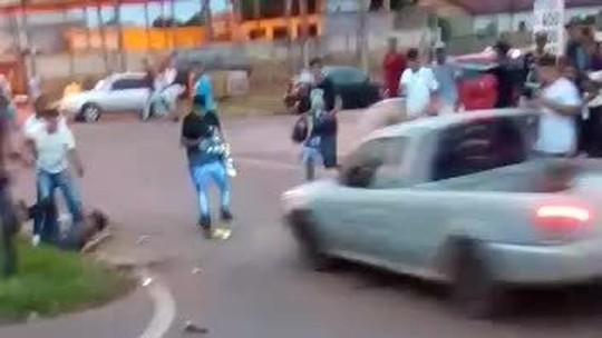 Três vítimas de atropelamento após briga continuam internadas e 5 pessoas que estavam em carros estão detidas em MT