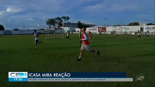Icasa trabalha para vencer na série B do estadual