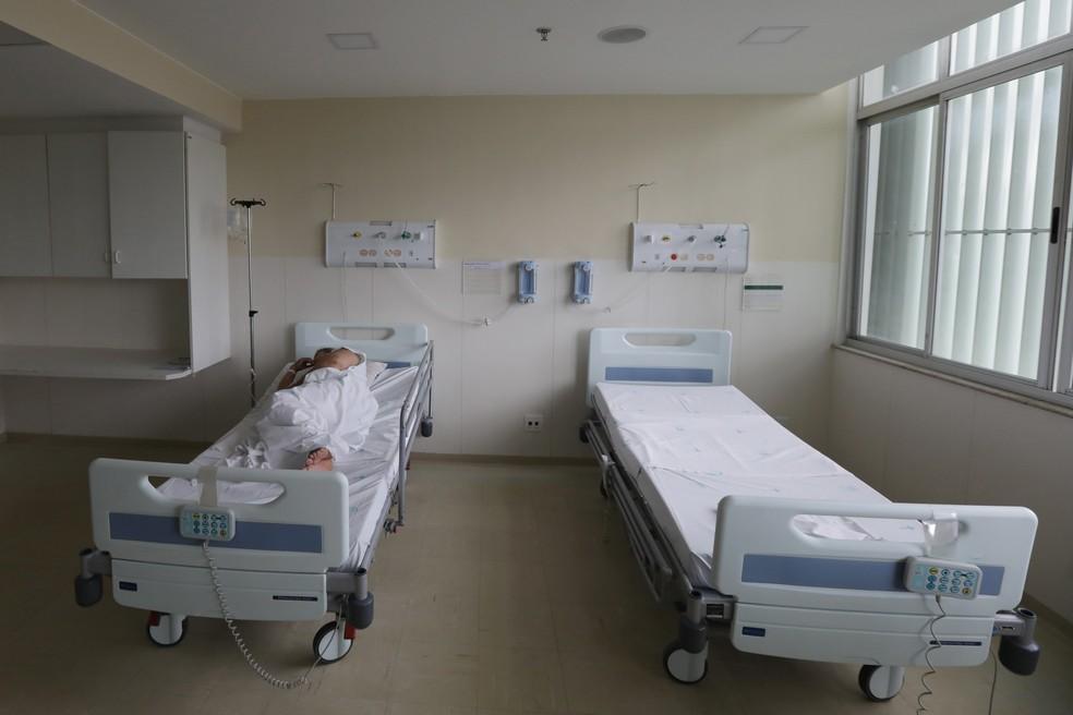 Leitos no Hospital de Base do Distrito Federal, em imagem de arquivo — Foto: Lúcio Távora / IGES-DF