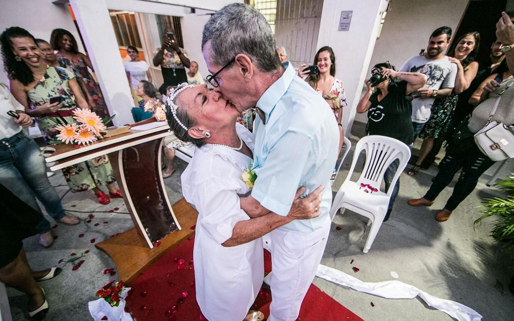 Idosos se casam após se conhecerem em casa de repouso (Foto: Dantas Jr. )