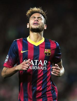 Neymar no jogo Barcelona e Manchester City (Foto: AFP)