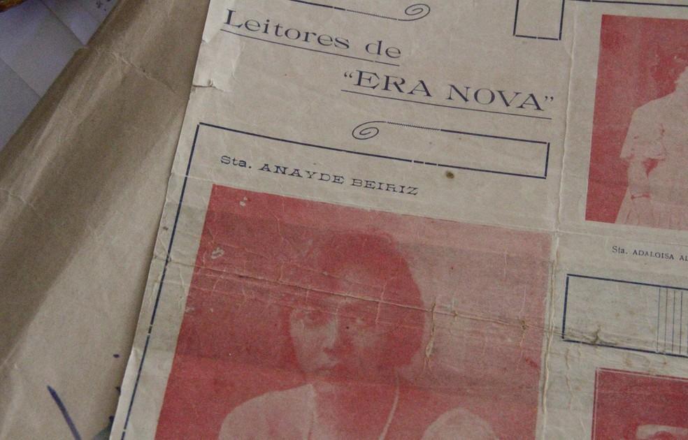Capa da Revista Era Nova, com Anayde Beiriz — Foto: Dani Fechine/G1