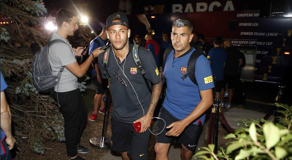 Neymar está nos Estados Unidos, onde disputará torneio de pré-temporada com o Barcelona (Foto: Twitter / Barcelona)