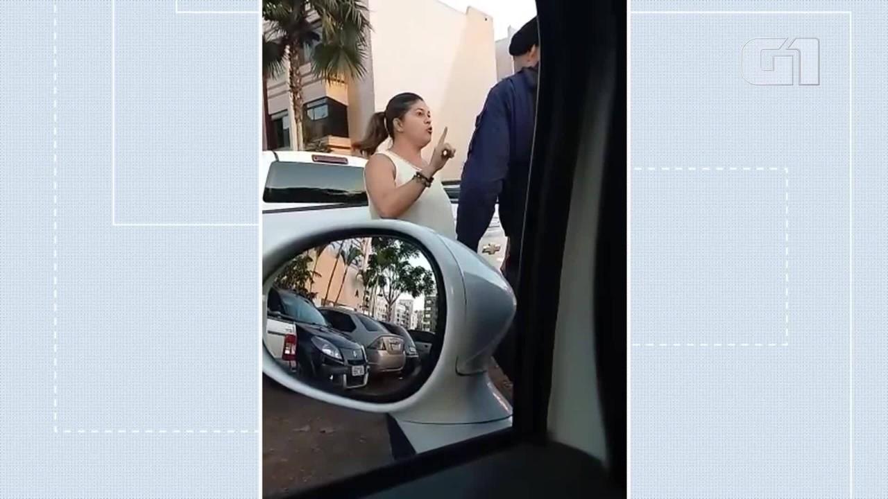 Vídeo mostra discussão da coronel da Polícia Militar do DF Sheyla Sampaio com agentes