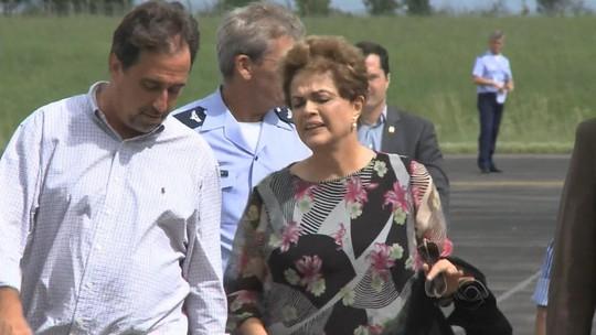 Dilma sobrevoa áreas atingidas pelas cheias na Fronteira Oeste do RS