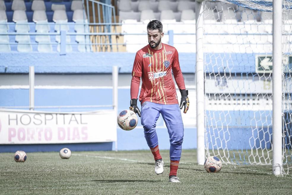 Gabriel Leite vem recebendo criticas sobre seu atual desempenho — Foto: Jorge Luiz/Ascom Paysandu