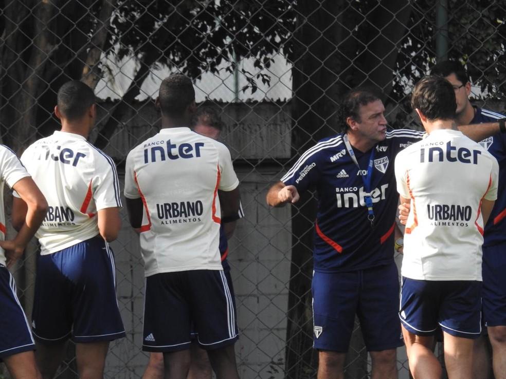 Cuca, do São Paulo, opinou sobre declaração de Jorge Jesus, técnico do Flamengo, a respeito dos treinadores brasileiros — Foto: Marcelo Hazan