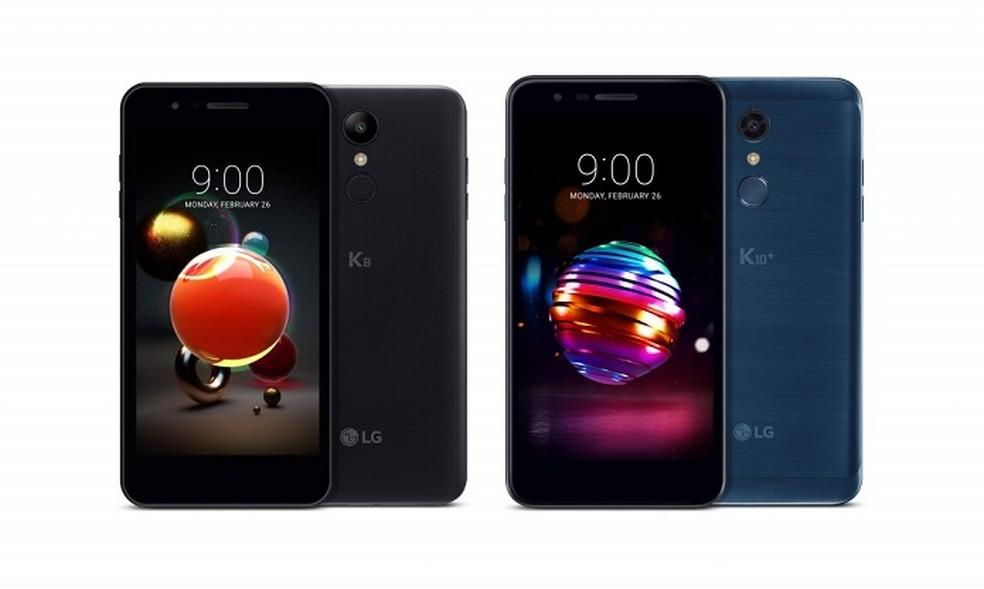 LG K8 e K10 têm poucas mudanças no visual em relação a modelos anteriores (Foto: Divulgação/LG)