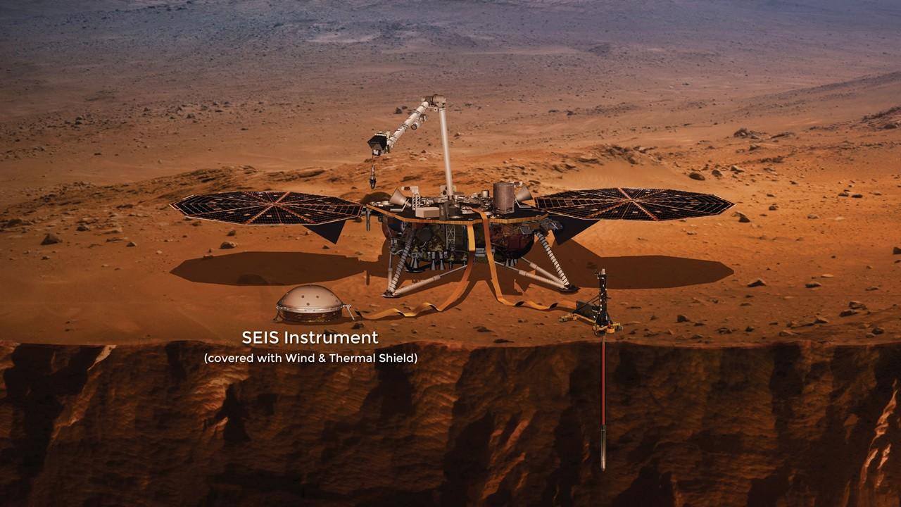 Instrumento SEIS da sonda InSight da NASA (Foto: NASA)