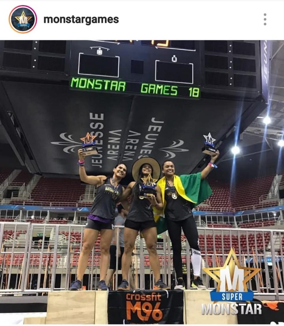 Patrícia Fattah, do RB Crossfit, é vice-campeã na categoria amador feminino no Monstar Games 18, no RJ — Foto: Reprodução/Instagram Monstargames