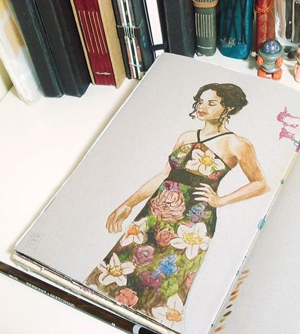 Ilustração por Ana Paula Teixeira (Foto: Pinterest/ Reprodução)