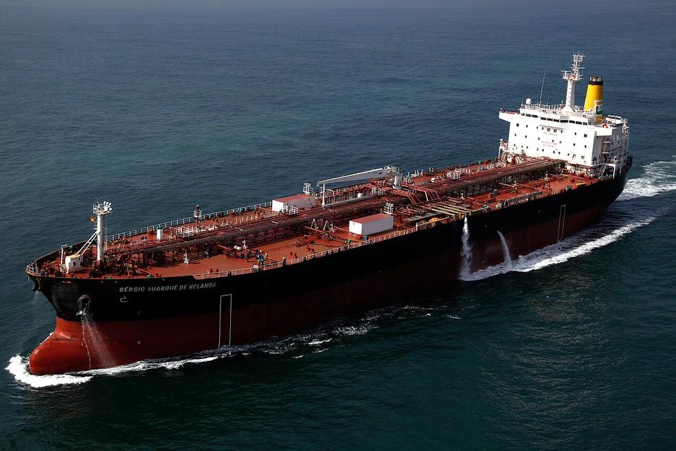 Navio da Transpetro tem 12 tripulantes com Covid-19 no Porto de São Sebastião, SP. — Foto: Divulgação/Transpetro