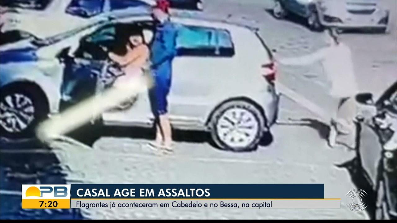 Casal é flagrado roubando no bairro do Bessa, em João Pessoa, e em Cabedelo