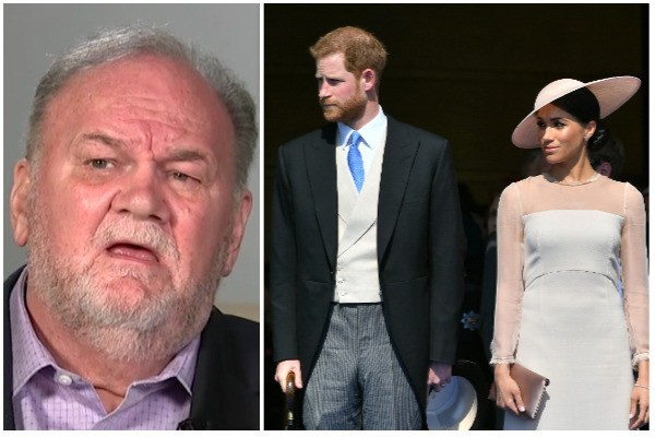 Thomas Markle, Príncipe Harry e Meghan Markle (Foto: Good Morning Britain e Getty Images)