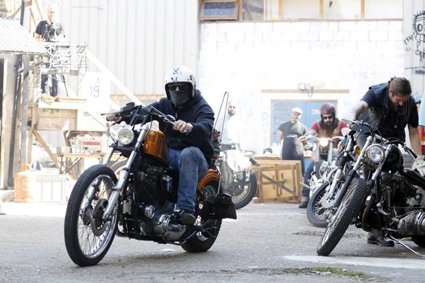 Motoqueiros preparam suas Harley Davidson em Londres, no Reino Unido (Foto: Getty Images)
