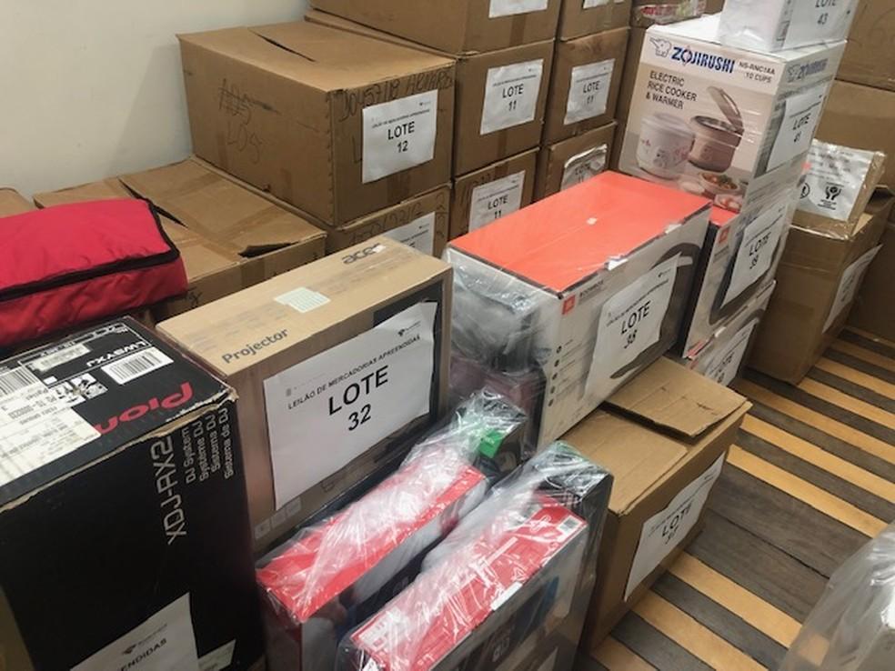 Interessados podem visitar Receita Federal em Natal para avaliar produtos  — Foto: Receita Federal/Divulgação