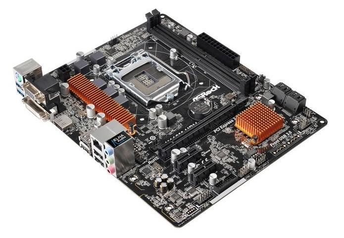 Modelo baratinho oferece suporte a DDR 4 (Foto: Divulgação/AsRock)
