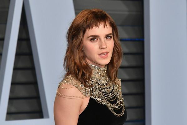 A atriz Emma Watson durante uma festa pós-Oscar 2018 (Foto: Getty Images)