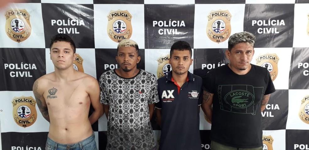 Suspeitos foram encaminhados para o Complexo Penitenciário de Pedrinhas em São Luís — Foto: Divulgação/Polícia