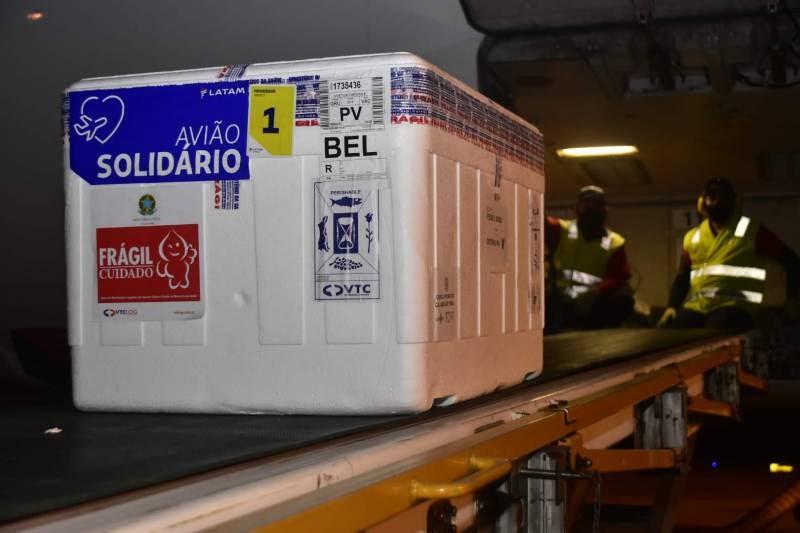 Pará recebe novas 170.300 doses de vacina contra a Covid-19
