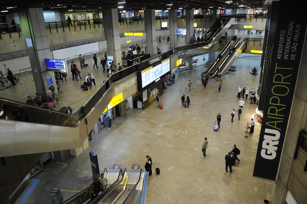 Registro interno do Aeroporto Internacional de Cumbica — Foto: Sidnei Barros/Prefeitura de Guarulhos