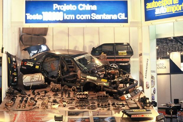 Volkswagen Santana que rodou do Brasil à China (Foto:  Autoesporte)