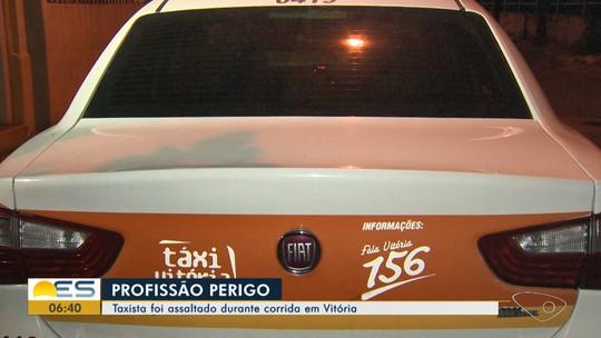 Taxista é assaltado durante uma corrida em Vitória