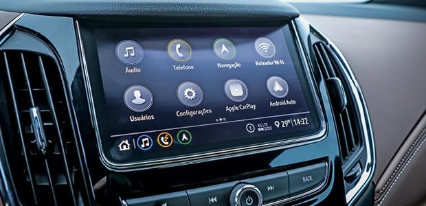 Chevrolet Cruze Premier - Cruze 2020 tem nova  multimídia (Foto: Rafael Munhoz)