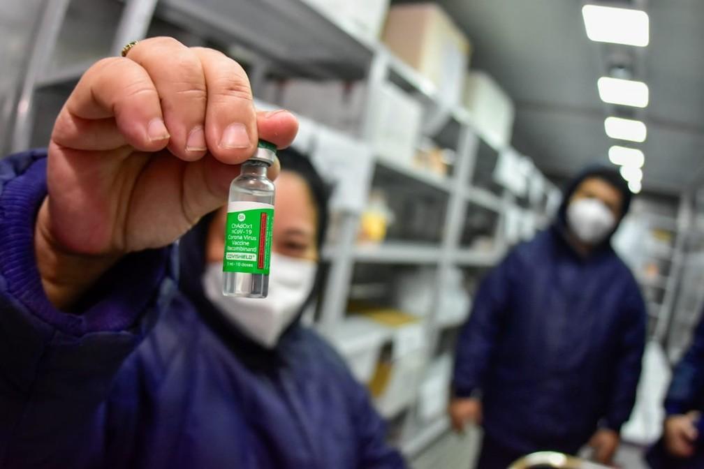 Vacinas de Oxford em Manaus. — Foto: Divulgação/Secom