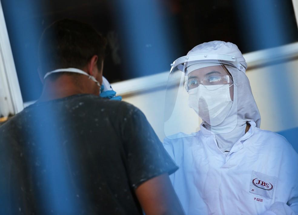 Empresa diz que adotou medidas de prevenção ao novo coronavírus — Foto: REUTERS/Diego Vara