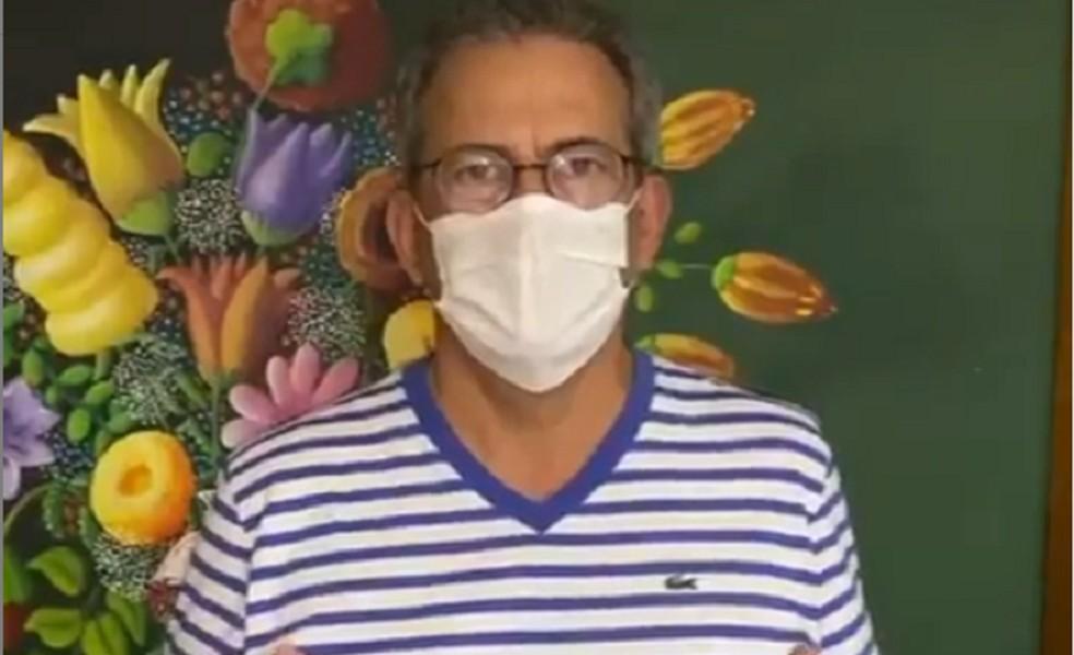Deputado Hermano Morais (PSB) afirma que foi diagnosticado com Covid-19 — Foto: Reprodução/redes sociais