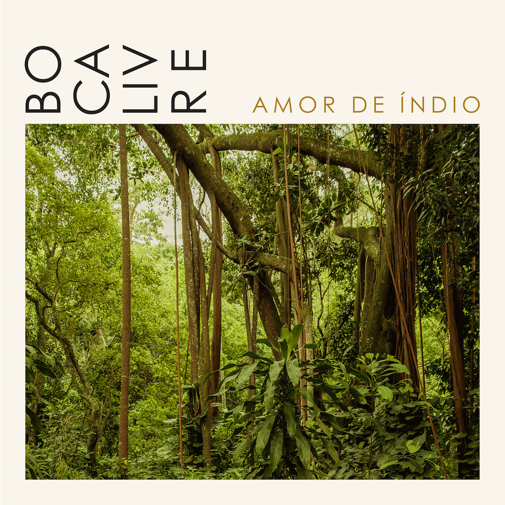 Capa do single 'Amor de índio', do Boca Livre — Foto: Leo Aversa com arte de Philippe Leon