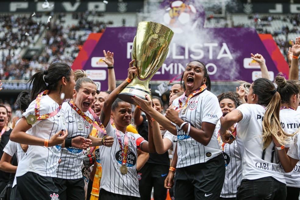 Corinthians foi campeão paulista feminino no ano passado — Foto: Bruno Teixeira / Ag. Corinthians