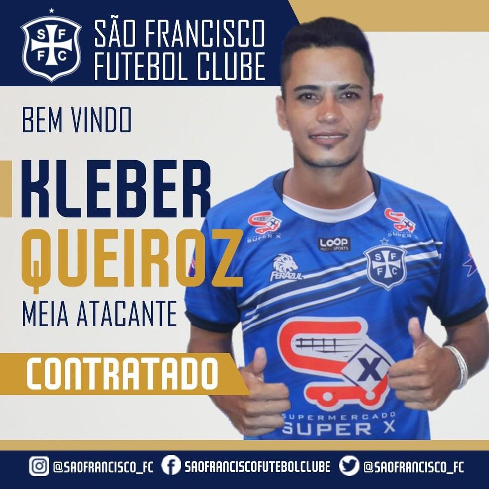 6aee97ba88b64 Curtinha  São Francisco anuncia novo reforço para Campeonato ...