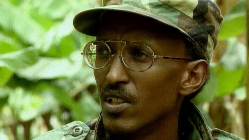 Paul Kagame, hoje presidente de Ruanda — Foto: BBC