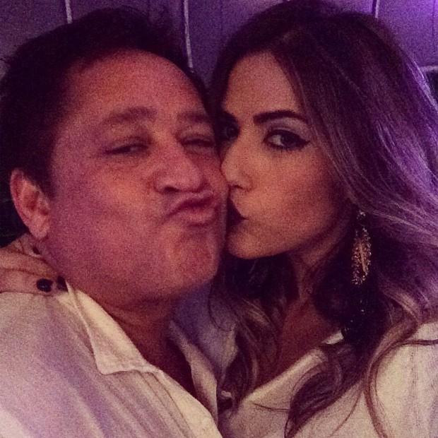 Leonardo e a filha, Jéssica Beatriz (Foto: Reprodução/Instagram)
