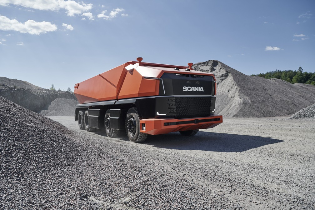Caminhão autônomo sem cabine da Scania — Foto: Divulgação
