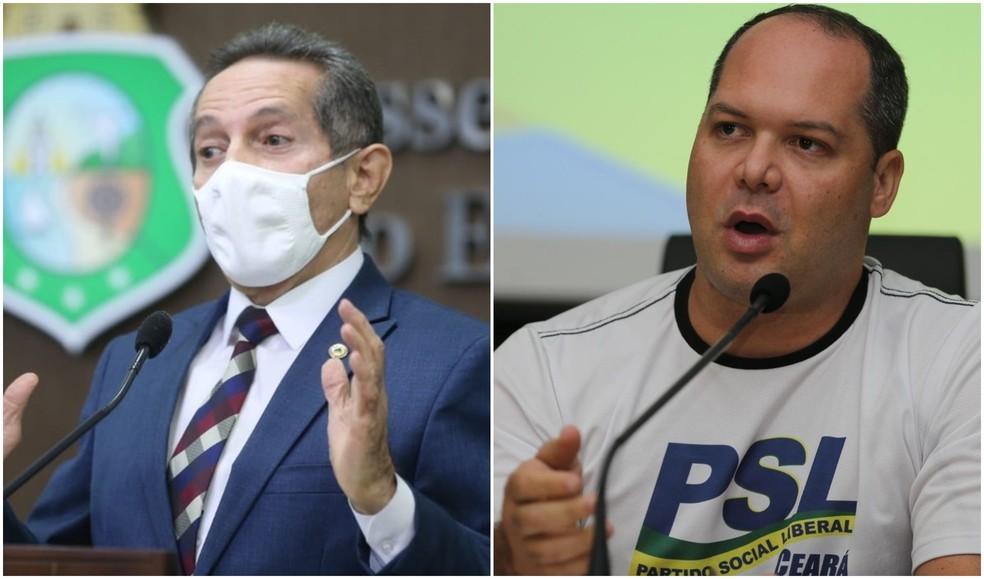Justiça determinou que Heitor Freire (direita) use sobrenome para evitar confusão com Heitor Férrer, autor do pedido — Foto: SVM