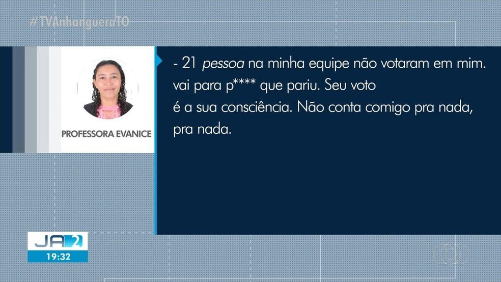 Mensagem foram compartilhadas pelos candidatos após o resultados das urnas — Foto: Reprodução/TV Anhanguera