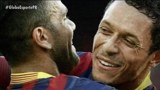 Sub-20, Barça e Seleção: caminhos de Adriano e Dani Alves voltam a se cruzar em Athletico x São Paulo