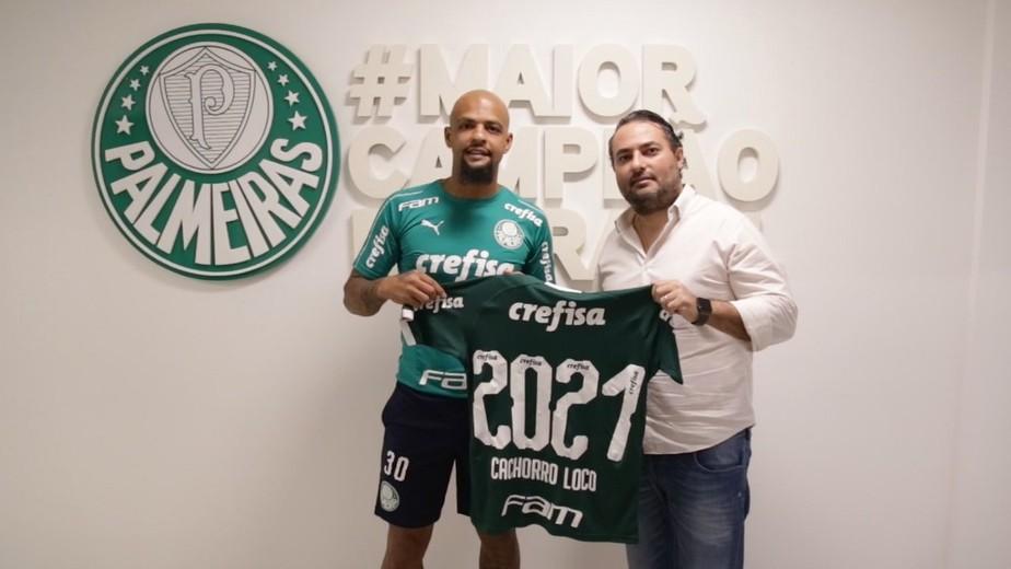 Felipe Melo renova contrato com o Palmeiras até o fim de 2021