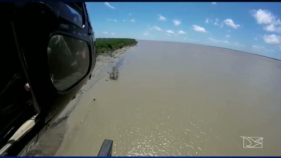 CTA fez buscas para tentar localizar os dois pescadores desaparecidos (Foto: CTA / Divulgação)