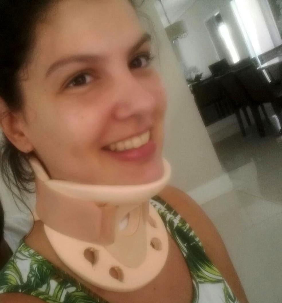 Amanda ficou dez dias em coma, 19 na UTI e um mês internada no Hospital da Unicamp — Foto: Arquivo pessoal
