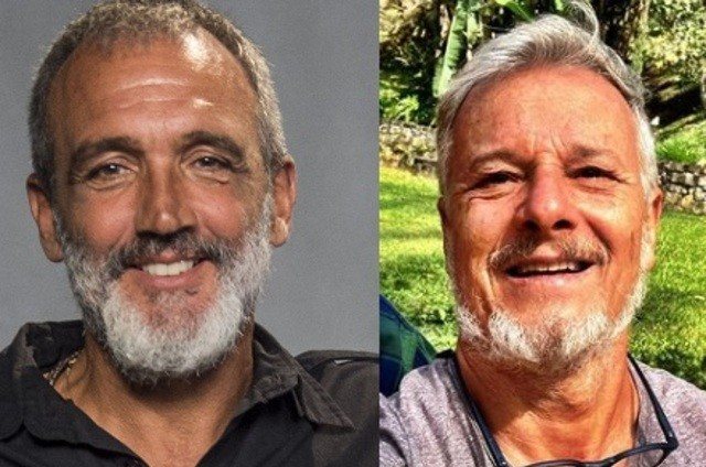 Rogério Gomes e Marcello Novaes (Foto: Globo e reprodução)