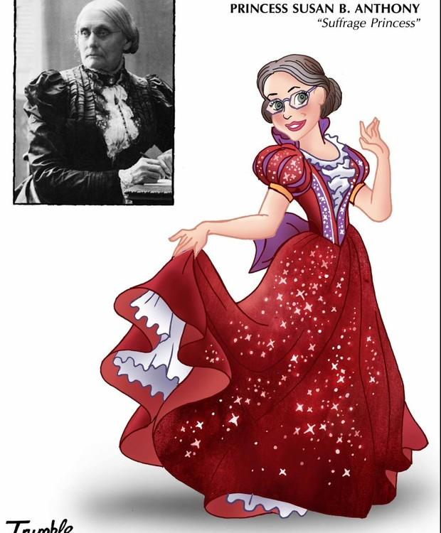 Susan B. Anthony, princesa do sufrágio (Foto: Trumble/ Reprodução)
