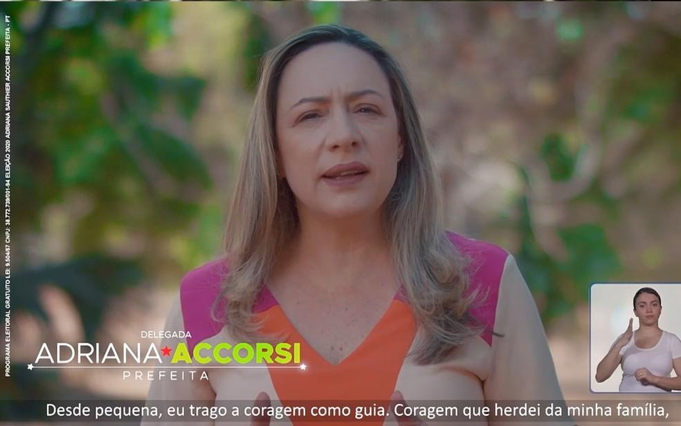 Adriana Accorsi PT Goiânia, Goiás — Foto: Reprodução/TV Anhanguera