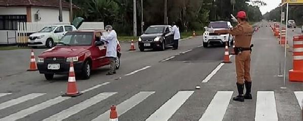 Coronavírus: Prefeitura de Matinhos instala barreira sanitária na entrada da cidade
