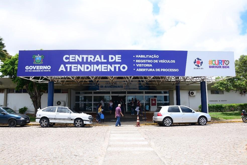 Sede do Detran do Rio Grande do Norte, em Natal — Foto: Detran/Divulgação