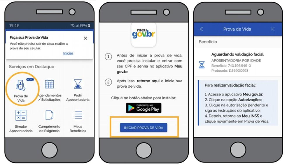 Abra o Meu INSS para fazer prova de vida pelo celular — Foto: Divulgação/INSS